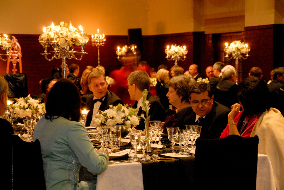 GCB 65th anniversary dinner in Centenary Hall, University of the Free State, Bloemfontein